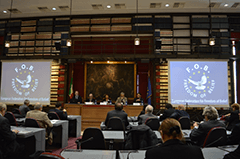 Presentation of FOB at Montecitorio, Hall of Globe