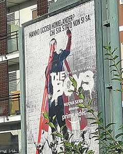 "Manifesto di ""The Boys"" a Milano"