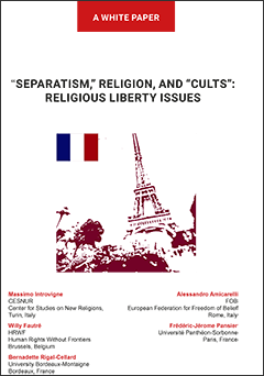 """Separatism,"" Religions and ""Cults"": Religious Liberty Issues - Cover"